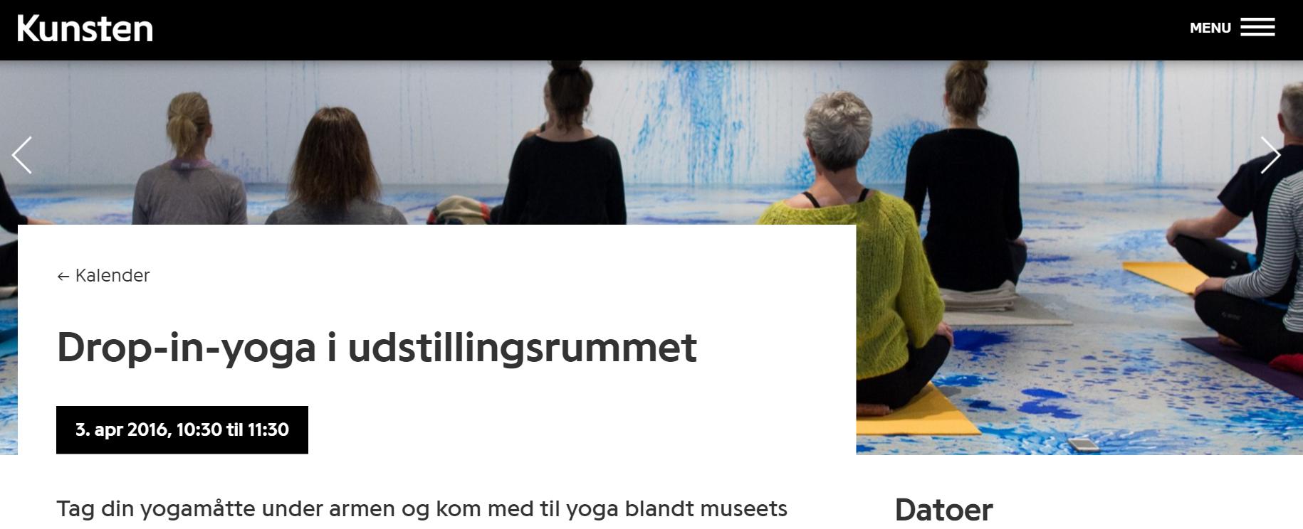 Nye kunder til både Kunstmuseet og Yoga-forretningen! www.kunsten.dk